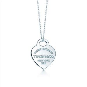 Tiffany sterling silver heart pendant necklace.